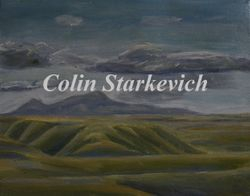 """Sweet Grass Hills (11 by 14"""" oil on canvas)"""