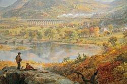 Cropsey, Starrucca Viaduct, Pennsylvania, 1865 (Toledo)  detail