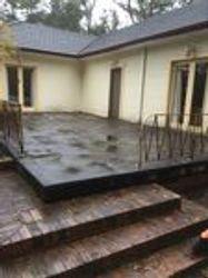 Old concrete veranda