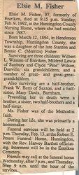 Fisher, Elsie M. 1992