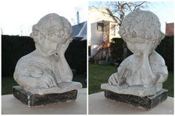 Antikvarine gipsine statula Berniukas raso. Kaina 187