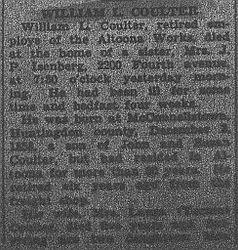 Coulter, William - Part 1 - 1935