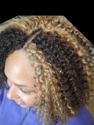 Invisible No-Knot Part Crochet Braids   Freetress Bohemian Braid Hair