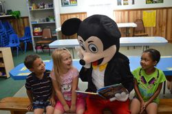 Mickey loves a good book