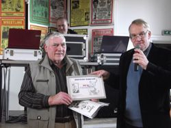 John Cox with 'on the road' award