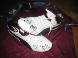 Worn and signed Jack Collison boots