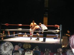 Veteran Karl Kramer in headlock