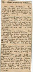 Whitesel, Nora Katherine Corcelius 1953
