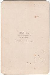 Yeaw & Co., photographers of Lawrence, Massachusetts - back