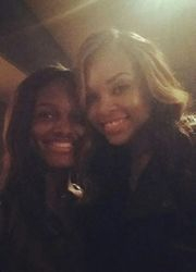 Chelby and Demetria McKinney at Demetria McKinney's Surprise DEMETRIAN Birthday/Meet & Greet