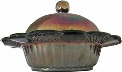 Pineapple amethyst butterdish -Sowerby