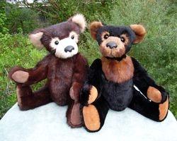 Heirloom bears vintage real fur