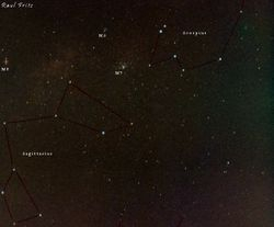 Sagittarius and Scorpius and some deep sky objects