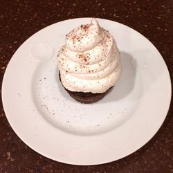 Chocolate Cupcake with Whipped Cream Topping