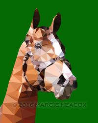 """California Chrome"" - Low Poly Art"
