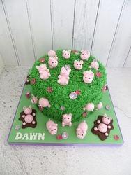 Pig themed Birthday Cake