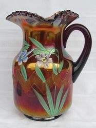 (Enameled) Columbine water pitcher, amethyst