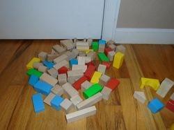 Melissa & Doug 80-Piece Wood Blocks Set - $11