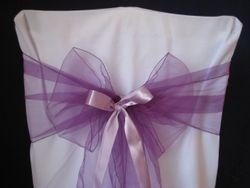 Purple, thin with ribbon.