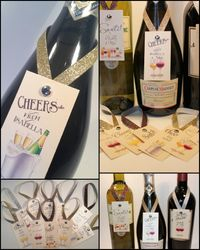 Wine Bottle Neck Tags - Champagne Flair