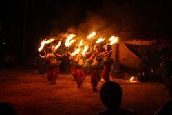 Fire Dance on Robinson Crusoe Island, Fiji