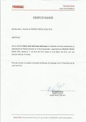 Certificado Nivel Maestro,