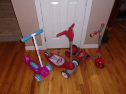 Scooters by Radio Flyer, Razor and Disney - $20