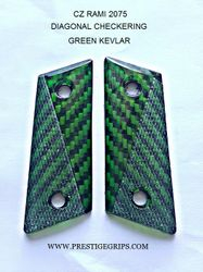 CZ RAMI Diagonal Checkered green Kevlar