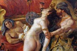 Delacroix, Death of Sardanapalus, detail, Louvre