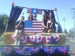 Teens on our 4th of July Float