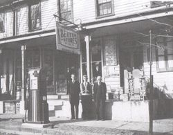 Brumbaugh Store with Family Members in Front