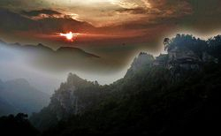 Sunrise on Wudangshan