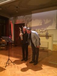 Taking our bows SaxGreat Marco Gerboni