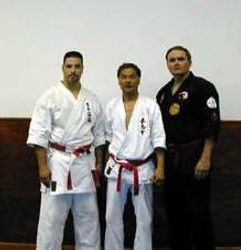 Sensei Morales with Hokama Sensei and Sensei Muncy