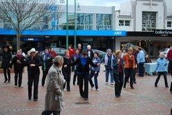 Street dancing in Hawera