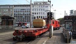 A works tram leaving Neumarkt