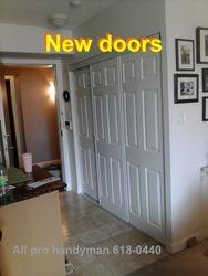 Condo new closet doors