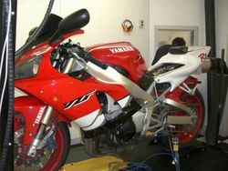 99' R1 Exup on dyno