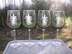 Pineapple Wineglasses