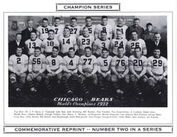 1932 Chicago Bears World Champs