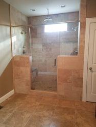 Large tile shower, master bath