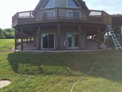After Patio & River Gravel