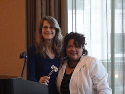 WALP 2013-14 President Darla Stephenson, PP and WALP 2012-13 President Eva Martinez, PLS