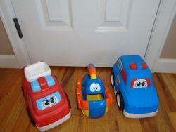 Large Play Trucks and Boat - $15