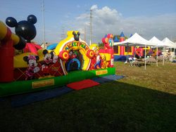 Church Festival, Toddler Mickey & Friends Unit and obstacle course with combo jumper with slide attached