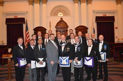 Satuit Members at the 18th Dist. 2nd Degree at Grand Lodge