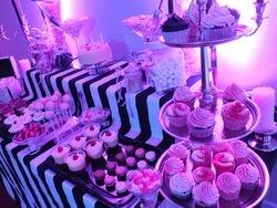 Black & white Dessert table hire