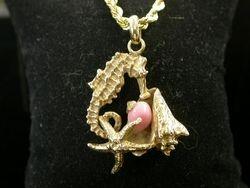 Conch Pearl Sea Animal Pendant