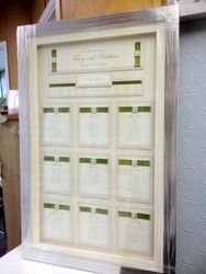 Framed Table Plan Ribbon Tracy Style