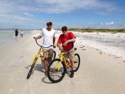Lawrence and Vic with their rental bikes